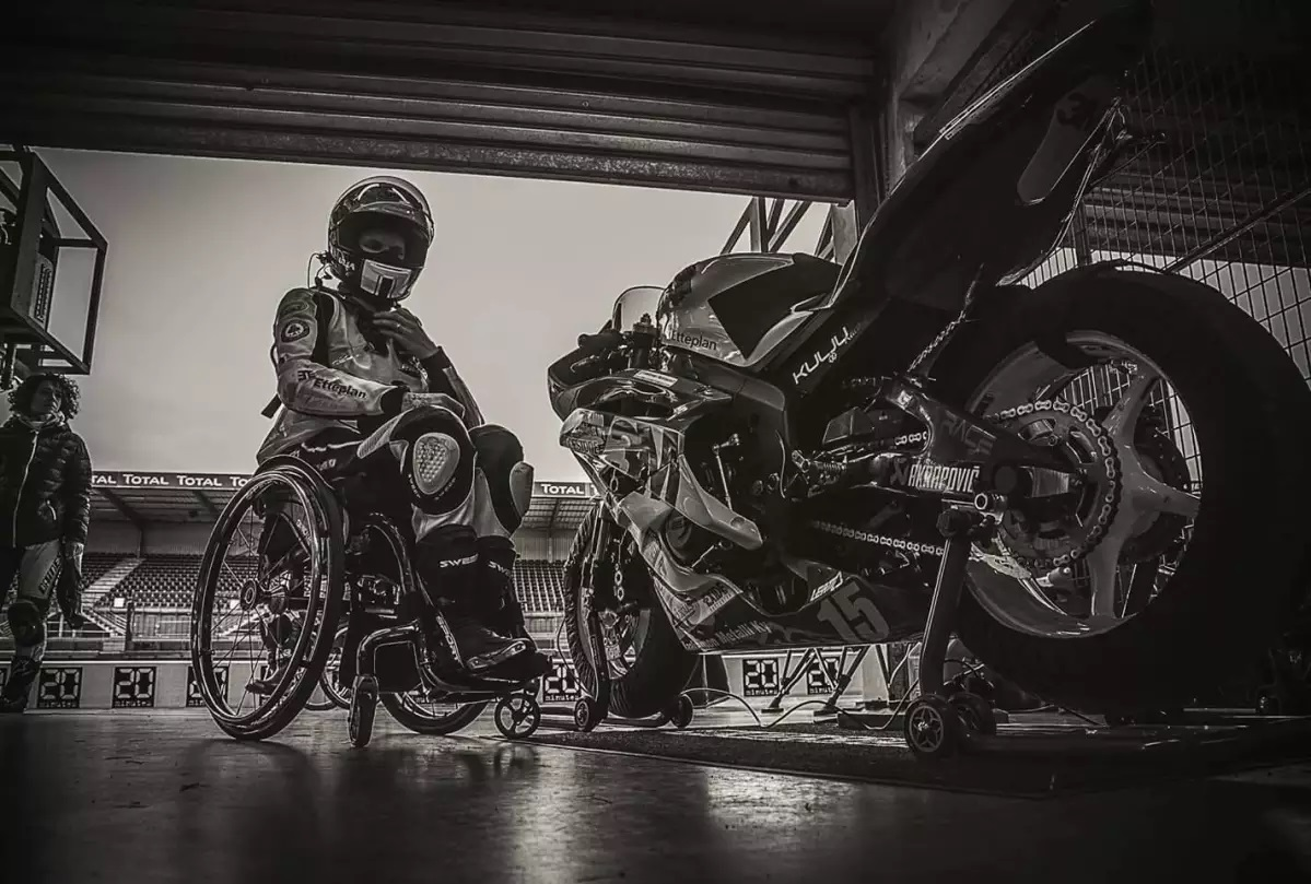 motogp with the wheelchair