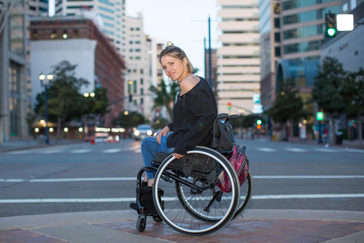 Roxana in Her Wheelchair in the USA