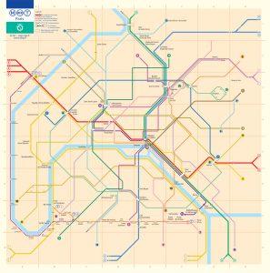 Paris Metro accessebility map